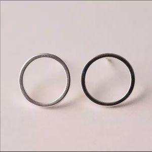 Jewelry - Sterling Silver 925 Circle Stud Earrings